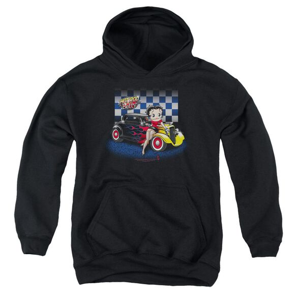 Betty Boop Hot Rod Boop Youth Pull Over Hoodie