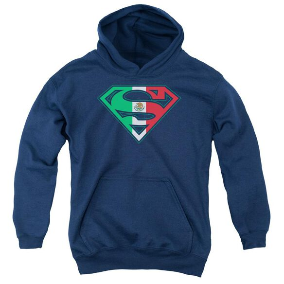 Superman Mexican Shield Youth Pull Over Hoodie