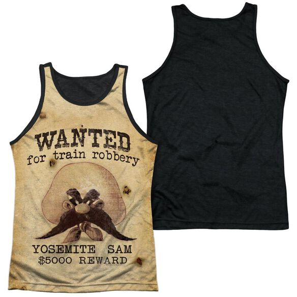 Looney Tunes Wanted Adult Poly Tank Top Black Back