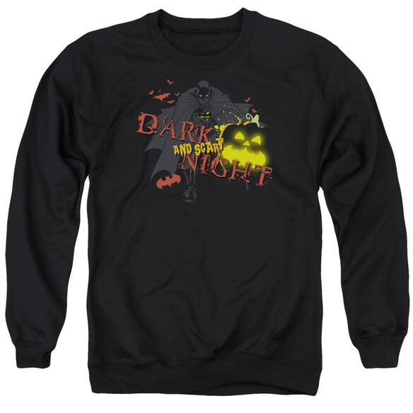 Batman Dark And Scary Night Adult Crewneck Sweatshirt