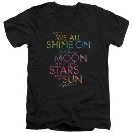 John Lennon All Shine On Short Sleeve Adult V Neck T-Shirt