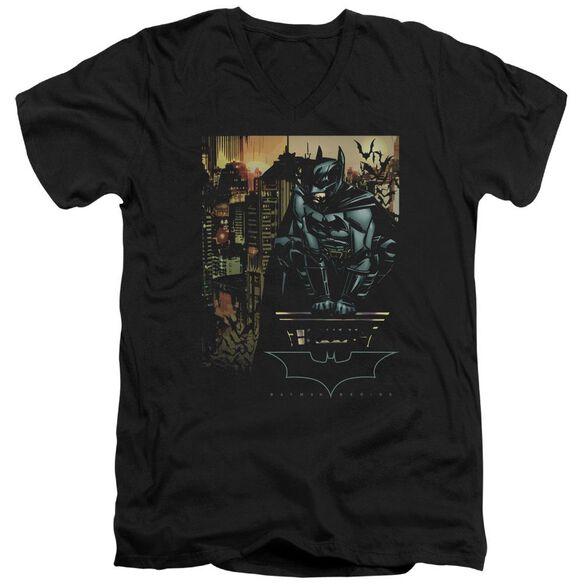 Batman Begins Waiting Short Sleeve Adult V Neck T-Shirt