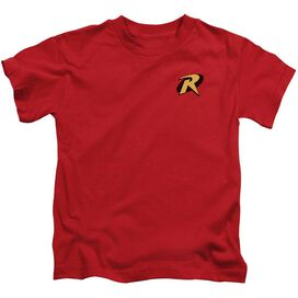 Batman Robin Logo Short Sleeve Juvenile Red Md T-Shirt
