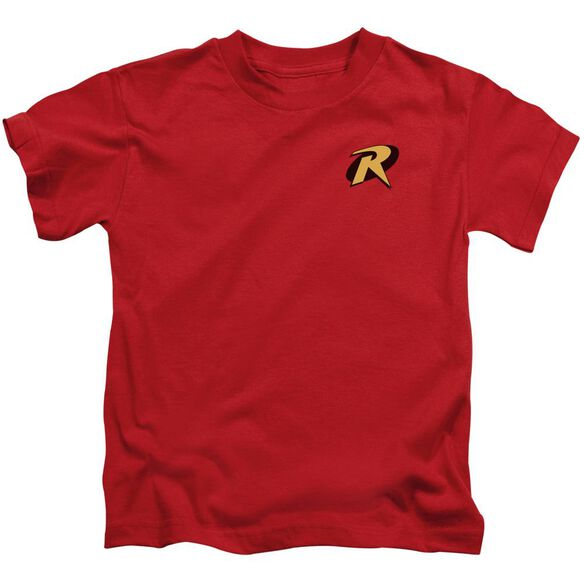 Batman Robin Logo Short Sleeve Juvenile Red Md T-Shirt