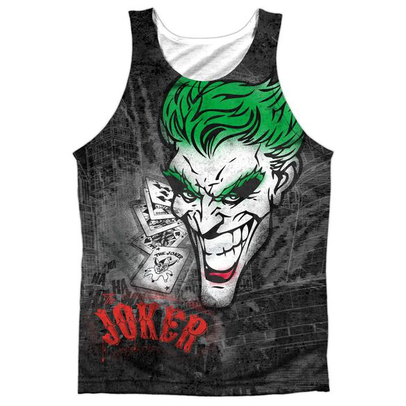 Batman Joker Sprays The City Adult 100% Poly Tank Top