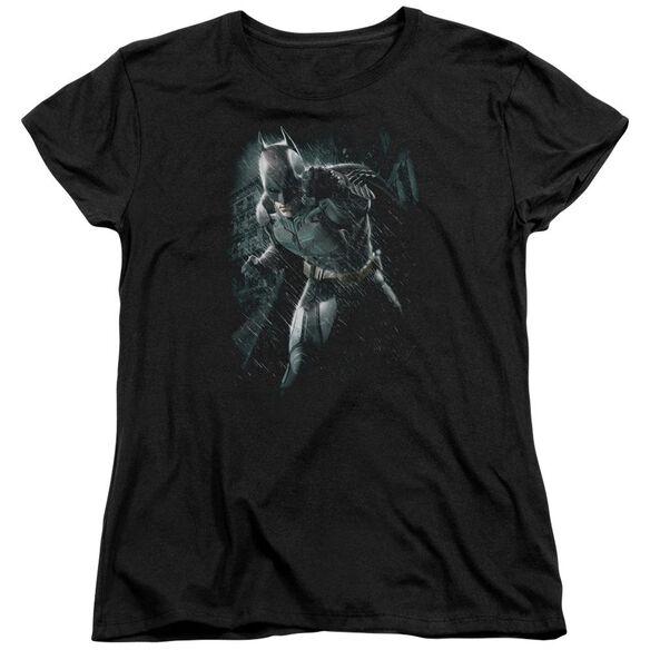 Dark Knight Rises Batman Rain Short Sleeve Womens Tee T-Shirt