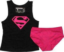 Supergirl Logo Pink Youth Tank Pajama Set