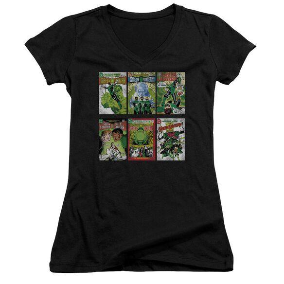 Green Lantern Gl Covers Junior V Neck T-Shirt