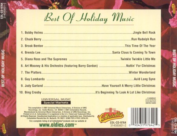 Best Of Holiday Music1001
