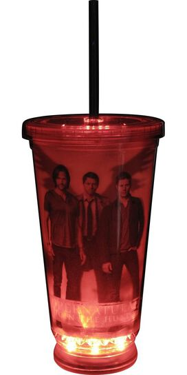 Supernatural Three Characters 3D LED Travel Cup