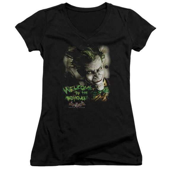 Batman Aa Welcome To The Madhouse - Junior V-neck - Black