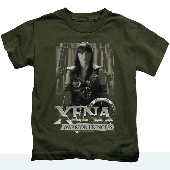 Xena Honored Short Sleeve Juvenile Military Green T-Shirt