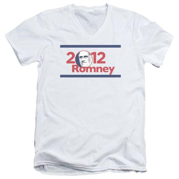 2012 Romney Short Sleeve Adult V Neck T-Shirt