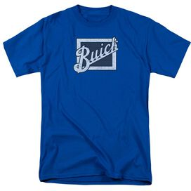 Buick Distressed Emblem Short Sleeve Adult Royal Blue T-Shirt