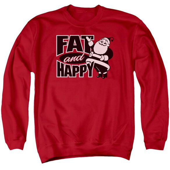 Fat And Happy Adult Crewneck Sweatshirt