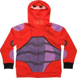 Big Hero 6 Baymax Hero Mesh Mask Youth Hoodie