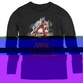 ARMY OF DARKNESS BLOODY POSTER - WOMENS LONG SLEEVE TEE