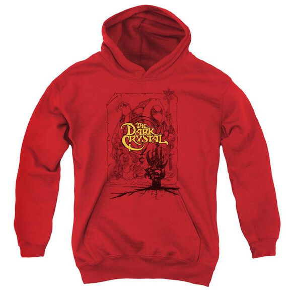 Dark Crystal Poster Lines Youth Pull Over Hoodie