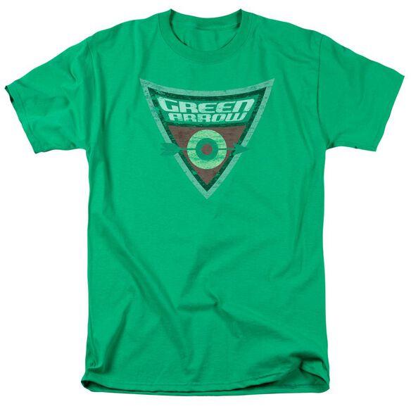 Batman Bb Green Arrow Shield Short Sleeve Adult Kelly Green T-Shirt