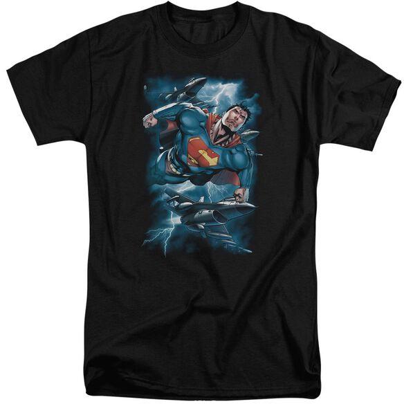 Superman Stormy Flight Short Sleeve Adult Tall T-Shirt