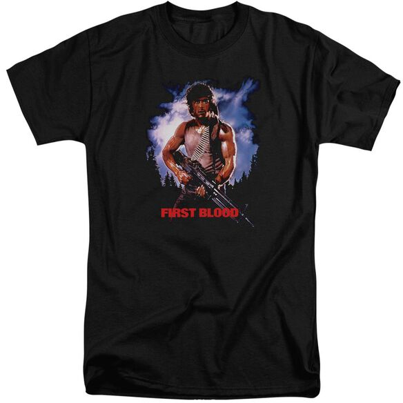 Rambo:First Blood Poster Short Sleeve Adult Tall T-Shirt
