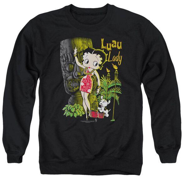 Betty Boop Luau Lady Adult Crewneck Sweatshirt