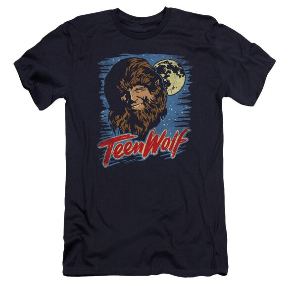 Teen Wolf Moon Wolf Premuim Canvas Adult Slim Fit