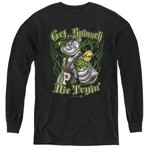 Popeye Get Spinach - Youth Long Sleeve Tee