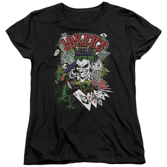 Batman Jokers Wild Short Sleeve Womens Tee T-Shirt