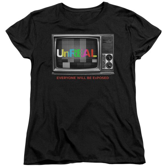 Unreal Static Short Sleeve Womens Tee T-Shirt