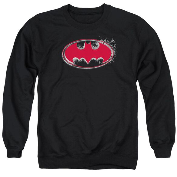 Batman Hardcore Noir Bat Logo Adult Crewneck Sweatshirt
