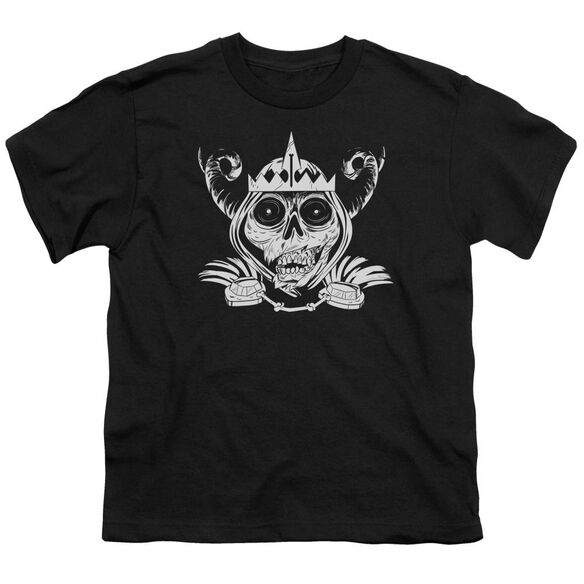 Adventure Time Skull Face Short Sleeve Youth T-Shirt