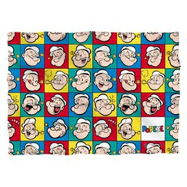 Popeye Many Moods Pillow Case White