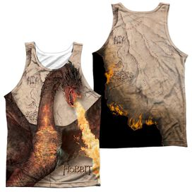 Hobbit Smaug Attack (Front Back) Adult 100% Poly Tank Top