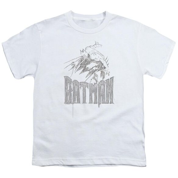 Batman Knight Sketch Short Sleeve Youth T-Shirt
