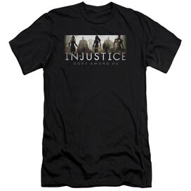 Injustice Gods Among Us Logo Premuim Canvas Adult Slim Fit