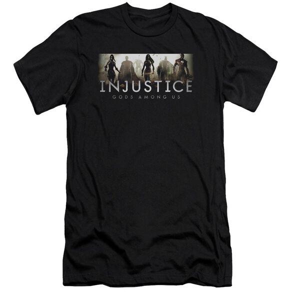 Injustice Gods Among Us Logo Short Sleeve Adult T-Shirt