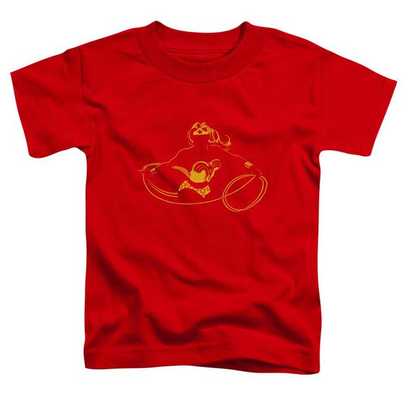 Dc Wonder Min Short Sleeve Toddler Tee Red T-Shirt
