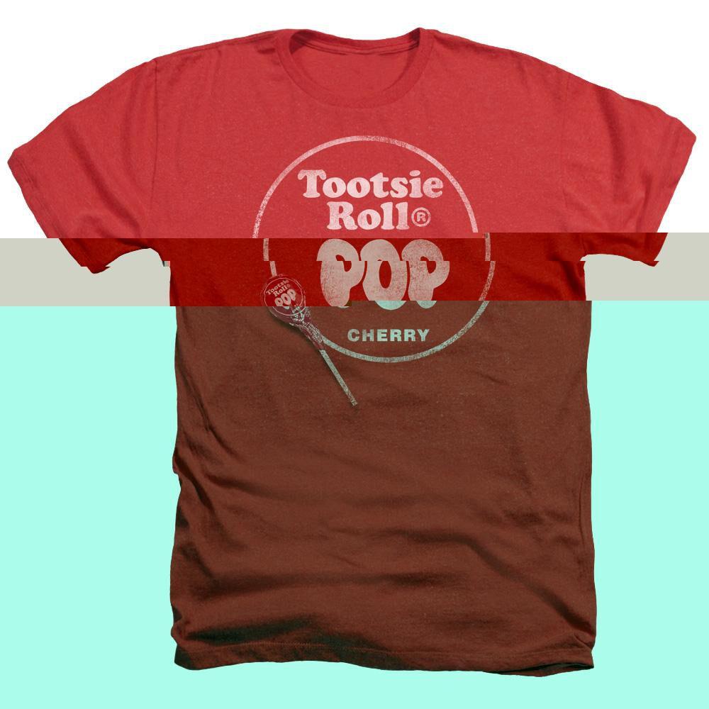 Tootsie Roll Tootsie Roll Pop Logo - Adult Heather - Red ...  Red Tootsie Pop