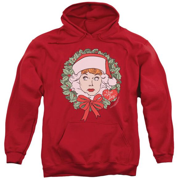 I Love Lucy Wreath Adult Pull Over Hoodie