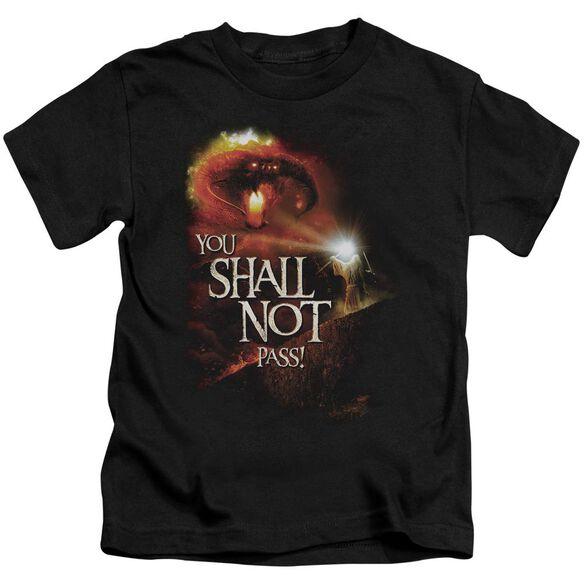 Lor You Shall Not Pass Short Sleeve Juvenile Black T-Shirt