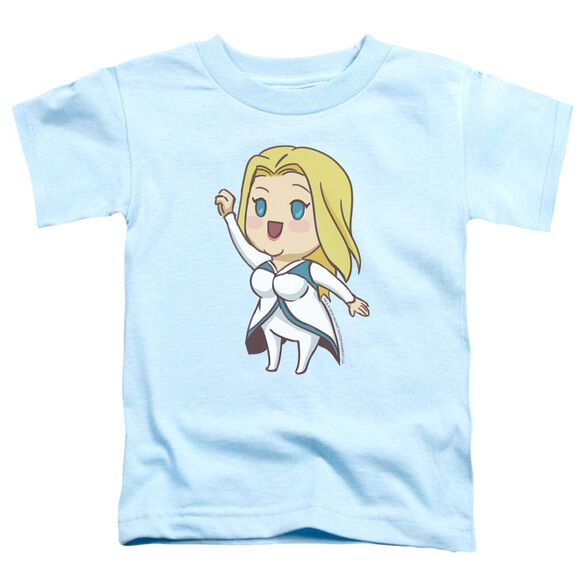 Valiant Faith Chibi Short Sleeve Toddler Tee Light Blue T-Shirt