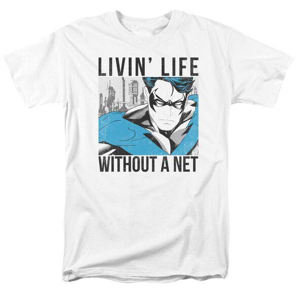 Batman Without A Net Short Sleeve Adult T-Shirt