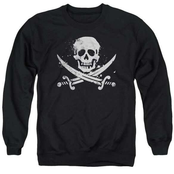 Distressed Jolly Roger Adult Crewneck Sweatshirt