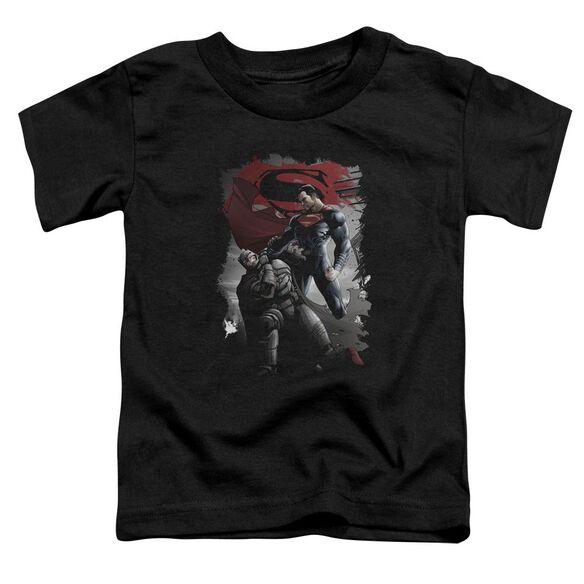 Batman Vs Superman Choke Short Sleeve Toddler Tee Black T-Shirt