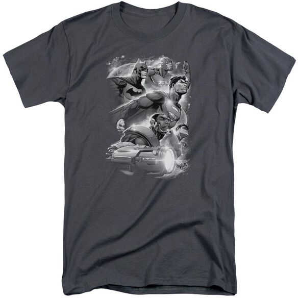 Jla Atmospheric Short Sleeve Adult Tall T-Shirt