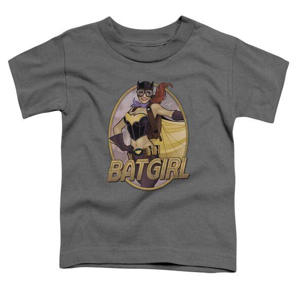 Jla Batgirl Bombshell Short Sleeve Toddler Tee Charcoal T-Shirt