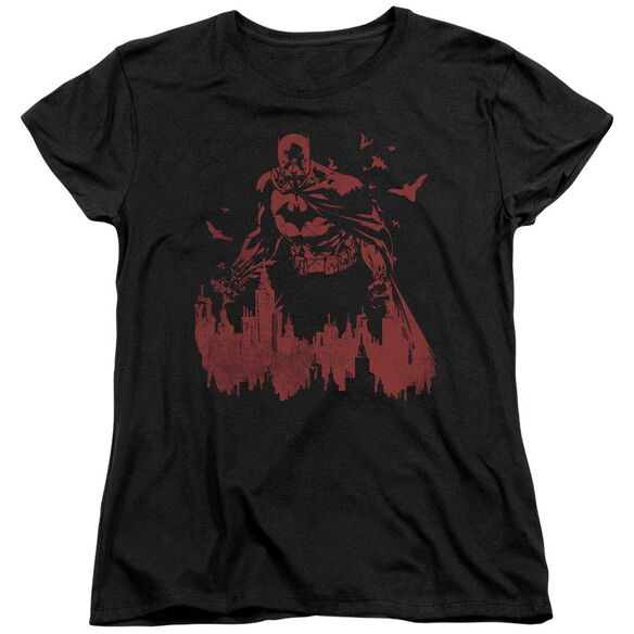 BATMAN RED KNIGHT - S/S WOMENS TEE - BLACK T-Shirt