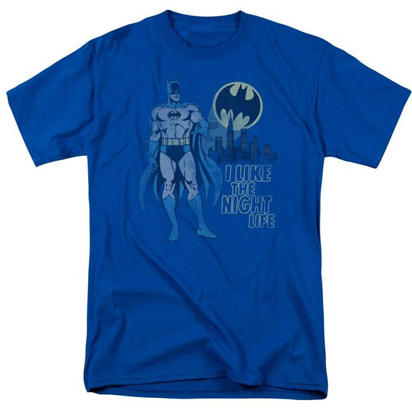 Dc Night Life Short Sleeve Adult Royal Blue T-Shirt