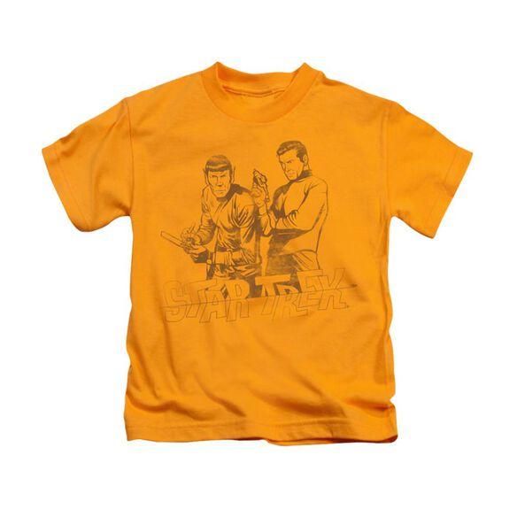 Star Trek Brains & Guts Short Sleeve Juvenile Gold T-Shirt